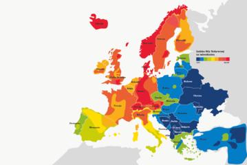 Mapa europejskiego bogactwa