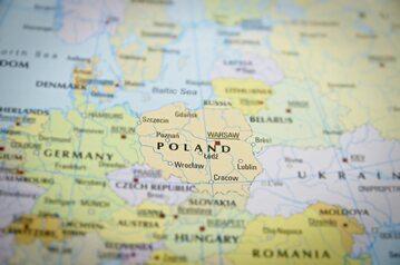 Mapa Polski, zdjęcie ilustracyjne