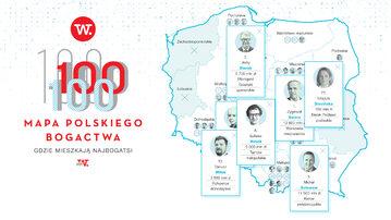 Mapa polskiego bogactwa – infografika