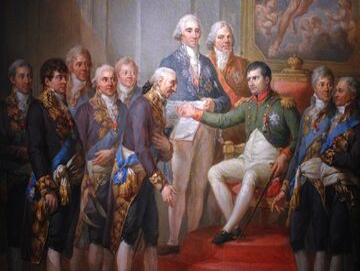 Marcello Bacciarelli, Nadanie konstytucji Księstwu Warszawskiemu przez Napoleona w 1807 roku