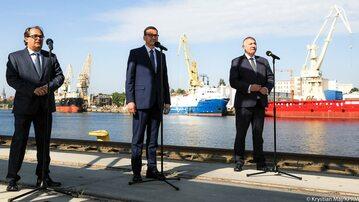 Marek Gróbarczyk, Mateusz Morawiecki i Joachim Brudziński