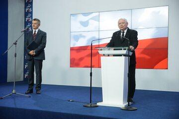 Marek Kuchciński i Jarosław Kaczyński