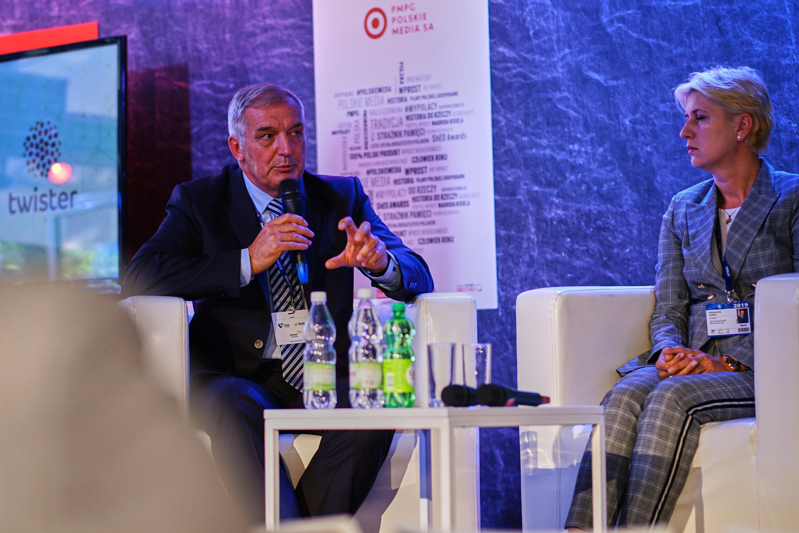 Marek Łuczak, prezes zarządu Syngenta Polska, i prezes KRUS Aleksandra Hadzik