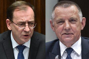 Mariusz Kamiński i Marian Banaś