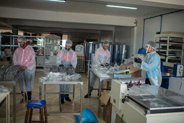 Maroko, produkcja przyłbic