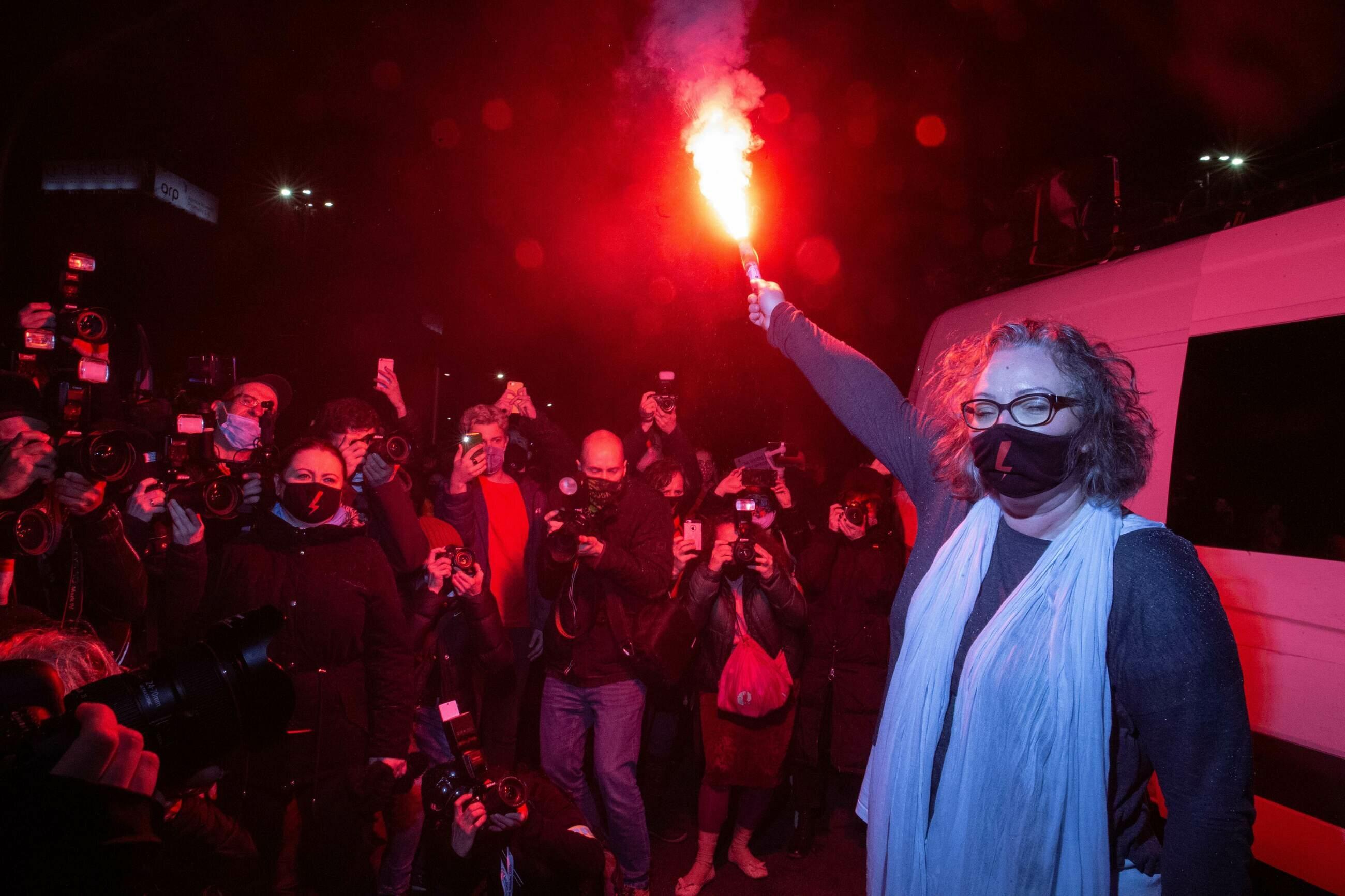 Marta Lempart podczas demonstracji