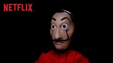 "Maska z serialu ""Dom z papieru"""
