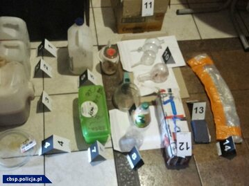 Materiały zabezpieczone przez policję