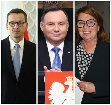 Mateusz Morawiecki, Andrzej Duda, Małgorzata Kidawa-Błońska