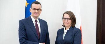 Mateusz Morawiecki i Magdalena Rzeczkowska
