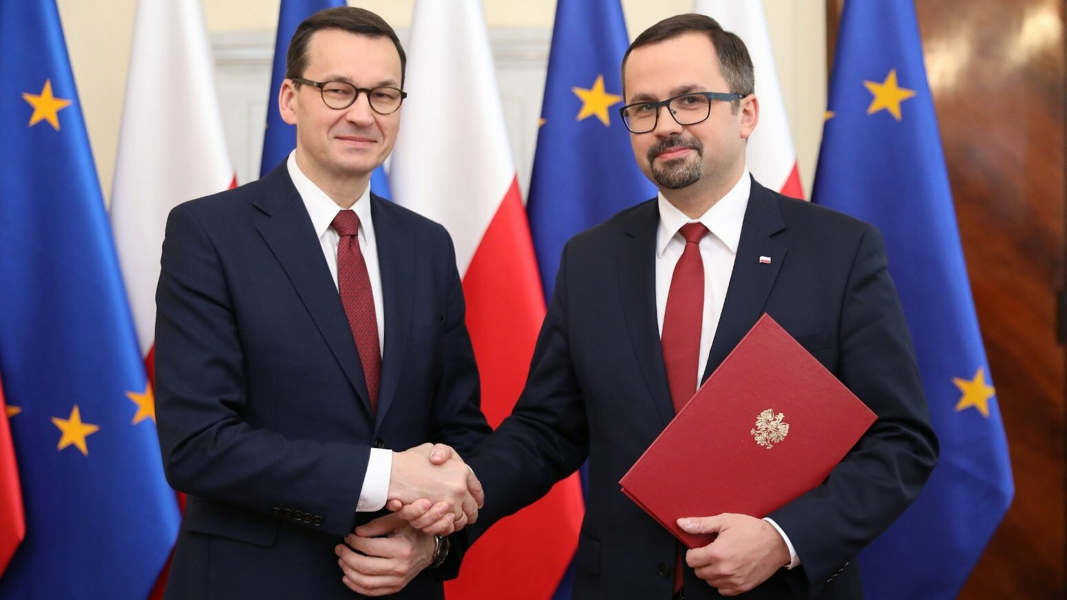 Mateusz Morawiecki i Marcin Horała