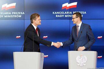 Mateusz Morawiecki i  Markus Schäfer