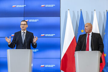 Mateusz Morawiecki i Tadeusz Kościński
