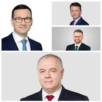 Mateusz Morawiecki, Mariusz Błaszczak, Łukasz Szumowski, Jacek Sasin