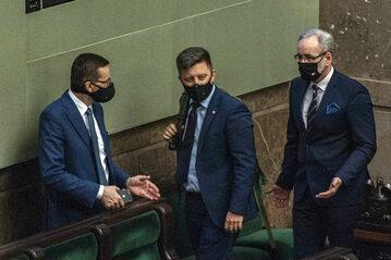 Mateusz Morawiecki, Michał Dworczyk i Adam Niedzielski