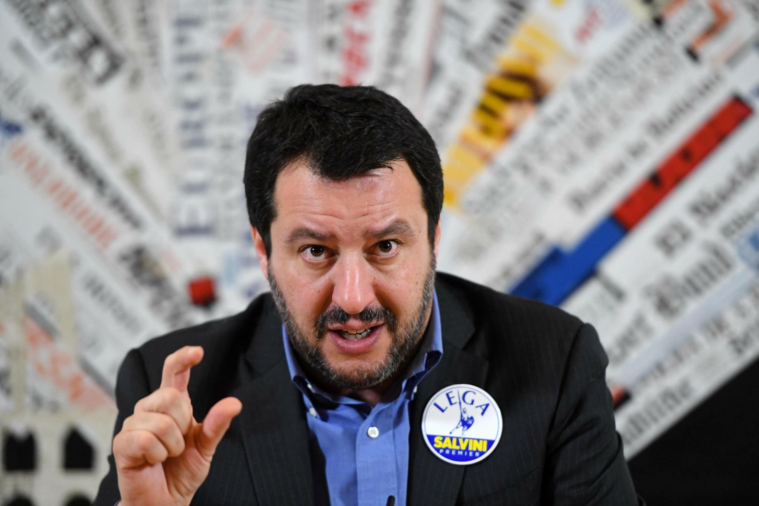 Matteo Salvini, lider Ligi Północnej