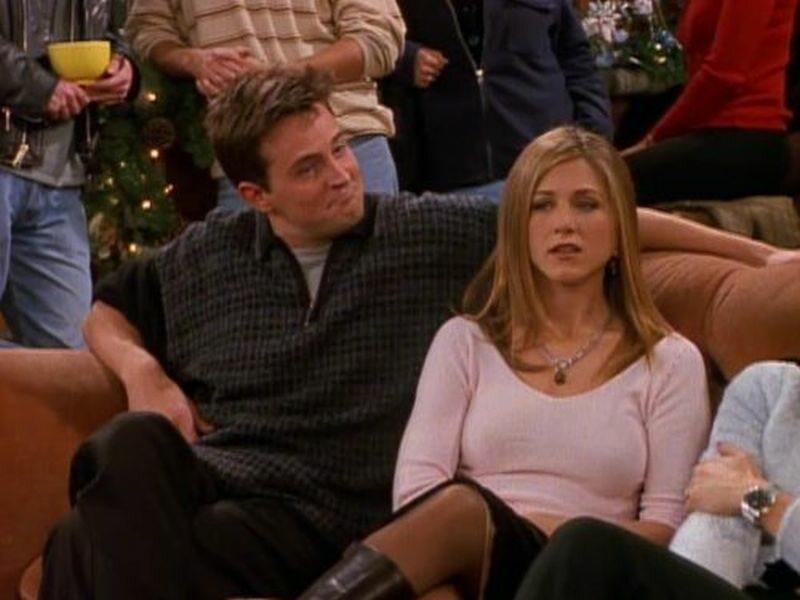 """Matthew Perry i Jennifer Aniston w serialu """"Przyjaciele"""""""