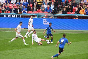 Mecz Hiszpanów z Włochami