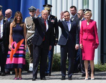 Melania i Donald Trump oraz Andrzej i Agata Duda