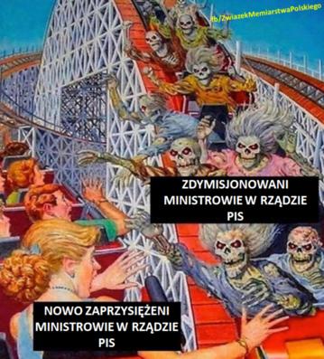 Mem komentujący sierpniową rekonstrukcję rządu
