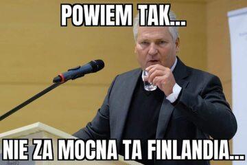 Mem po meczu Polski z Finlandią