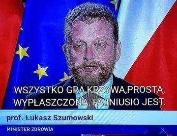 Mem po rezygnacji ministra Szumowskiego