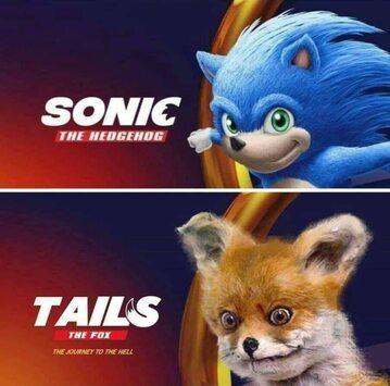 "Mem po trailerze filmu ""Sonic the Hedgehog"""