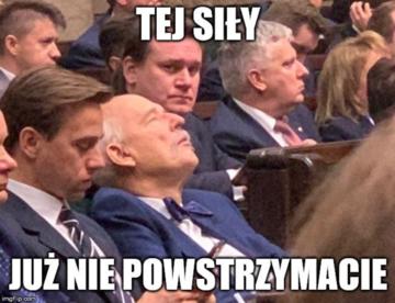 Mem z inauguracji posiedzenia Sejmu