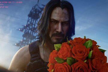 Mem z Keanu Reevesem po prezentacji gry Cyberpunk 2077