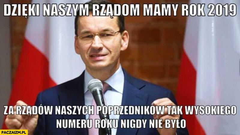 Mem z Mateuszem Morawieckim