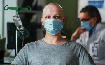 Mężczyzna chory na raka