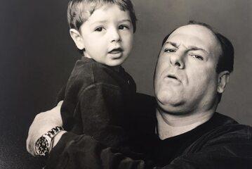 Michael Gandolfini z ojcem Jamesem