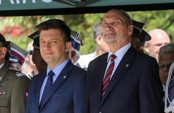 Michał Dworczyk i Antoni Macierewicz