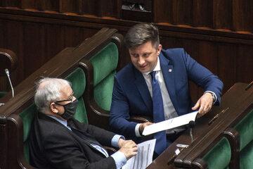 Michał Dworczyk i Jarosław Kaczyński