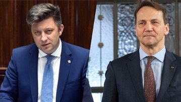 Michał Dworczyk i Radosław Sikorski