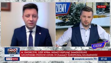 Michał Dworczyk w programie #Jedziemy TVP Info