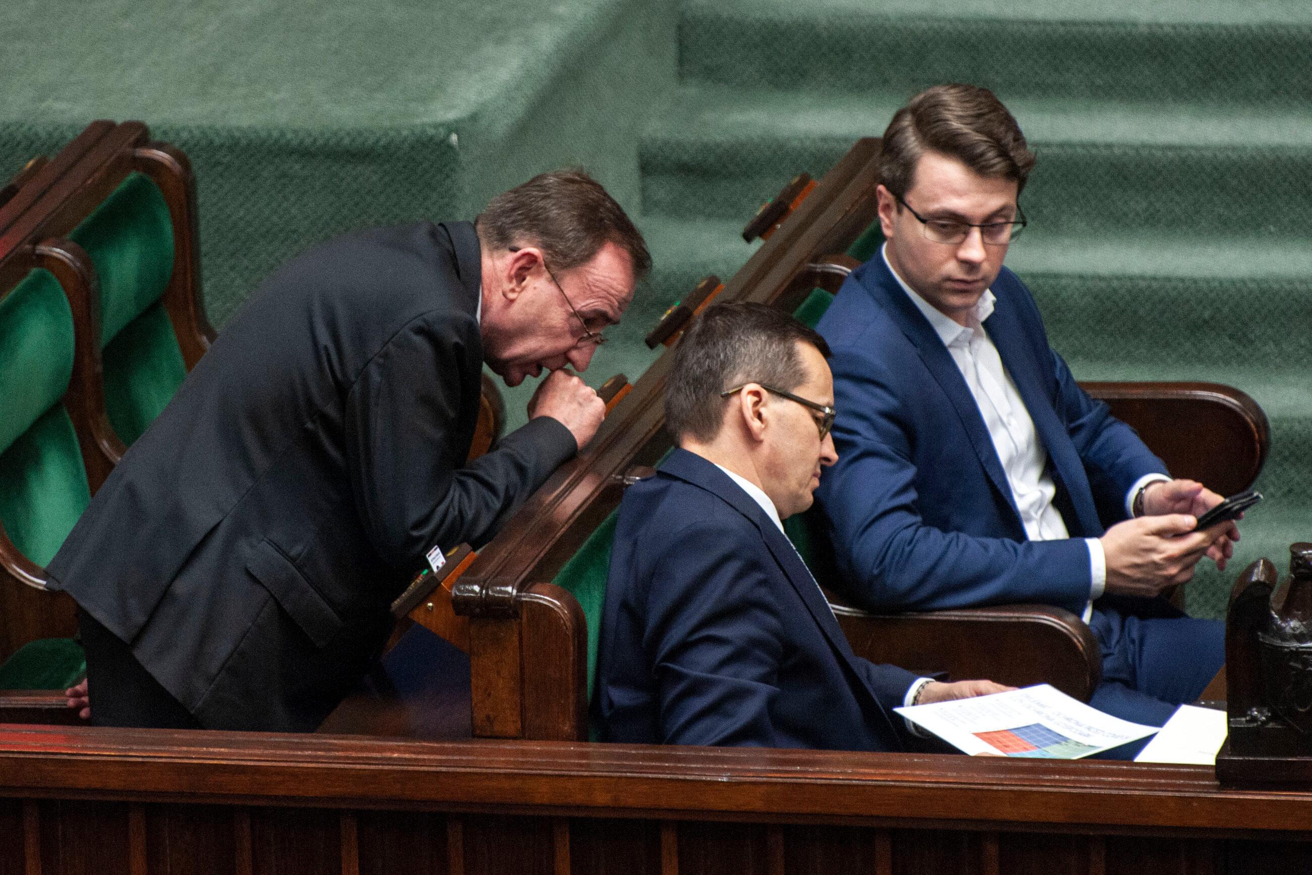 Michał Kamiński, Piotr Müller, Mateusz Morawiecki