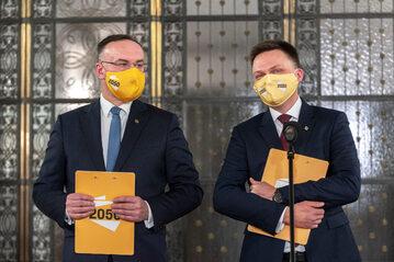 Michał Kobosko i Szymon Hołownia