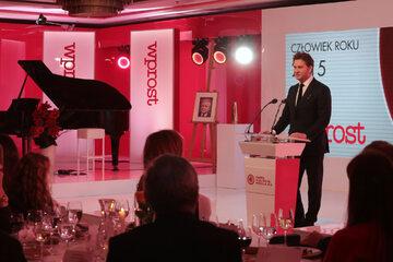 Michał M. Lisiecki. Gala Człowiek Roku 2015 tygodnika Wprost