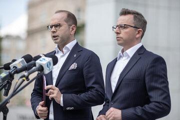 Michał Szczerba i Dariusz Joński
