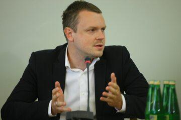 Michał Tusk w trakcie przesłuchania przed sejmową komisją ds. Amber Gold