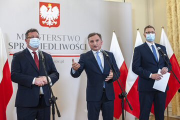 Michał Wójcik, Zbigniew Ziobro i Michał Woś