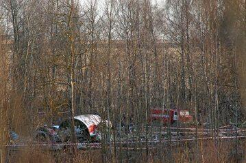 Miejsce katastrofy smoleńskiej, szczątki TU-154M