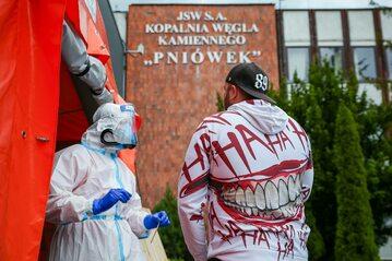 Miejsce testów w KWK Pniówek w Pawlowicach