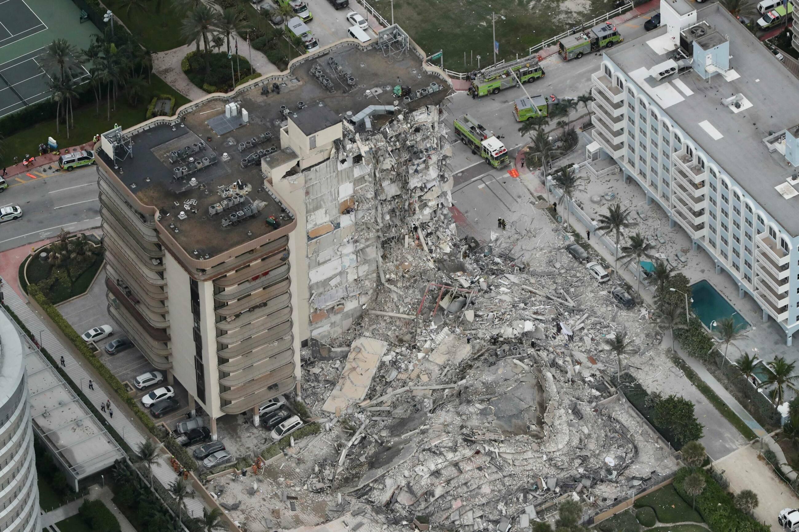 Miami. Część bloku runęła w 12 sekund. Rośnie liczba ofiar, aż 159 osób uważa się za zaginione