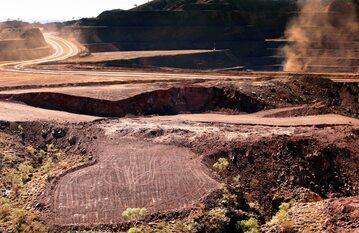 Miejsce, w którym Rio Tinto wysadziło jaskinię sprzed 46 tys. lat