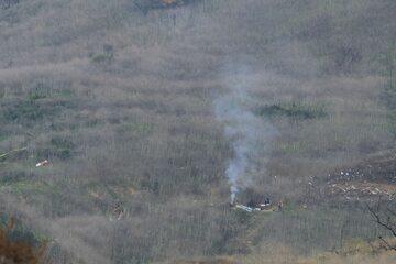 Miejsce, w którym rozbił się helikopter