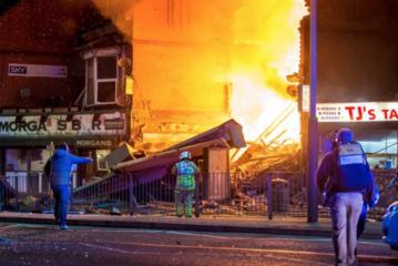 Miejsce wybuchu w Leicester