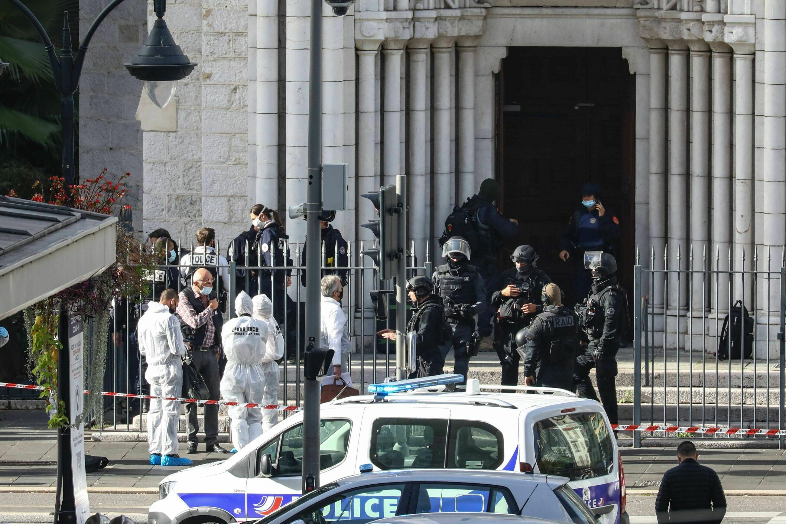 Miejsce zamachu w Nicei