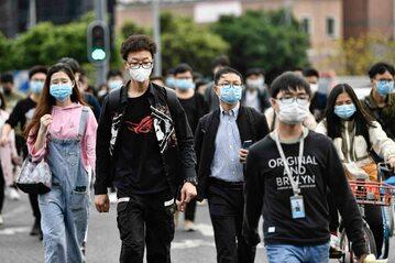 Mieszkańcy chińskiego miasta Kanton